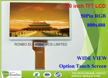 RGB 50 Pin 7 Inch TFT LCD Display 500cd / M² Brightness Replace Innolux At070tn94